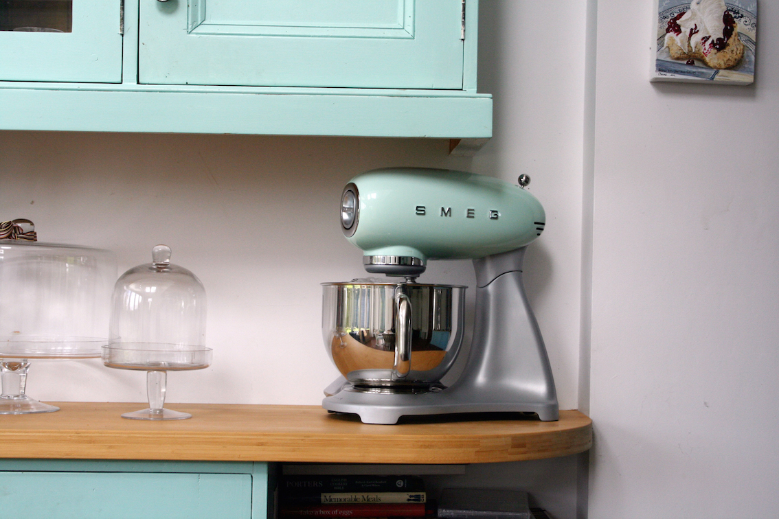 Uncategorized Smeg Kitchen Appliances Review whipped banana cake introducing my new smeg stand mixer the is beautiful it comes in 7 different colours and of course i had to choose mint green as matches kitchen