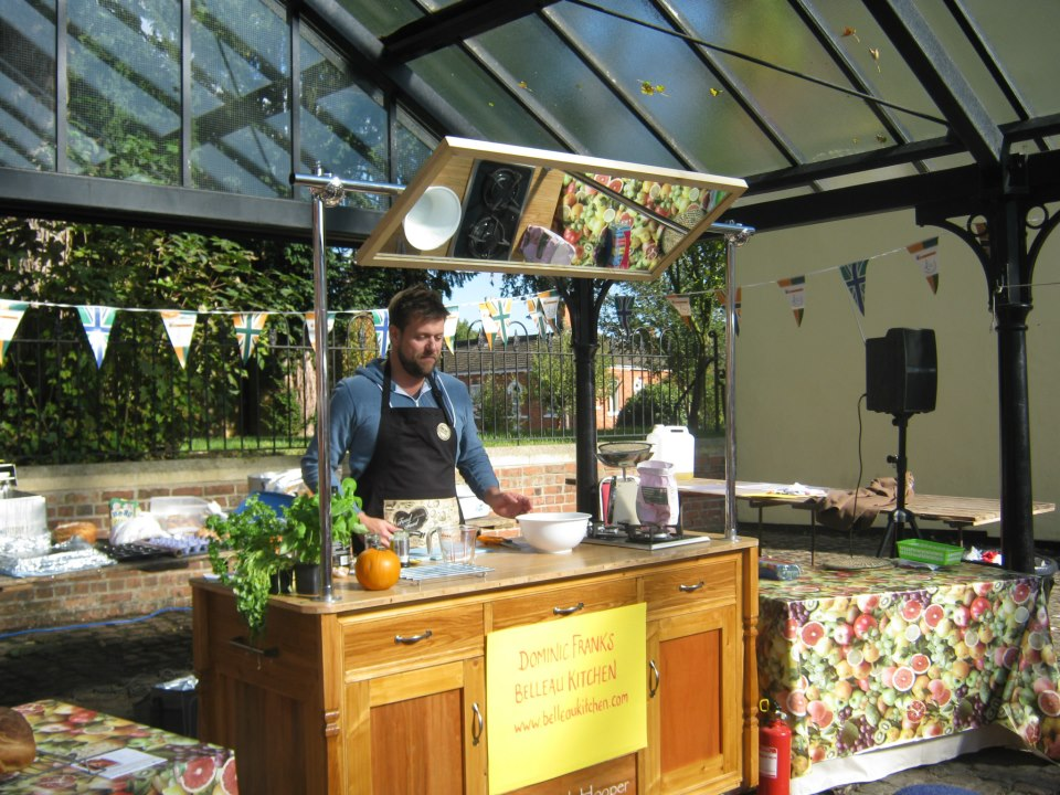 demo-cooking at the Market Rasen BIG Market as part of the Mary Portas Pilot Town project