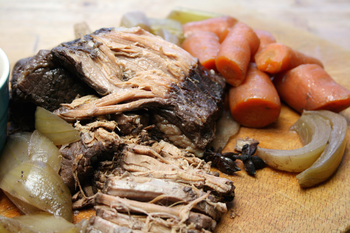 slow-cooker brisket with onions and star anise - Belleau ...