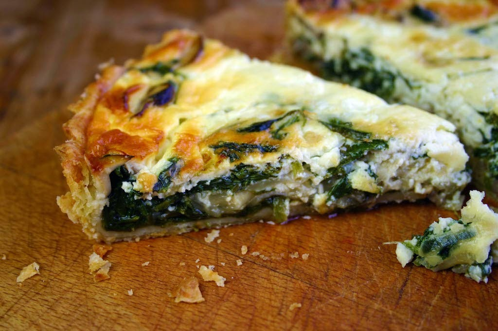 spinach and mushroom cottage cheese quiche belleau kitchen rh belleaukitchen com soft cheese tart recipe cottage cheese quiche recipe uk