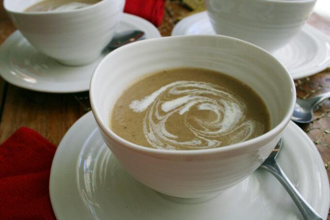 Christmas chestnut soup