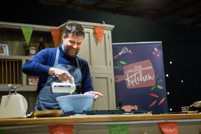 Demo cooking at the Lincolnshire Food and Gift fair