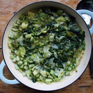 green vegetable pottage