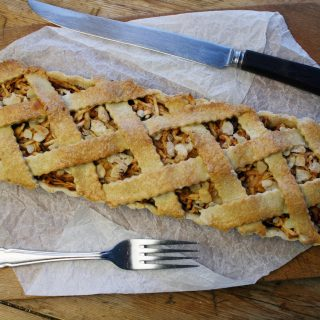apple, almond and ginger lattice tart