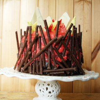 a cake for bonfire night