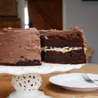 chocolate honey fudge cake with chocolate orange fudge icing