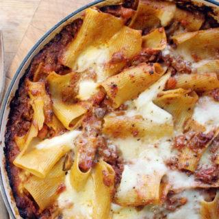 veggie bolognese pasta bake