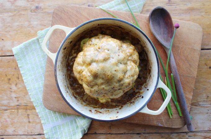 roast curry cauliflower