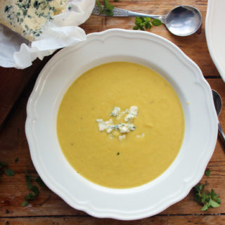Celery, Carrot and Fourme d'Ambert Soup