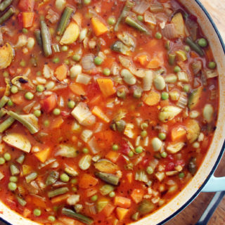 pearl barley and brussel sprout minestrone
