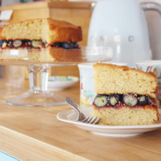 blueberry and orange zest victoria sponge