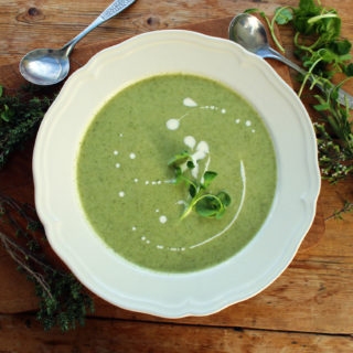fennel, celeriac and watercress soup