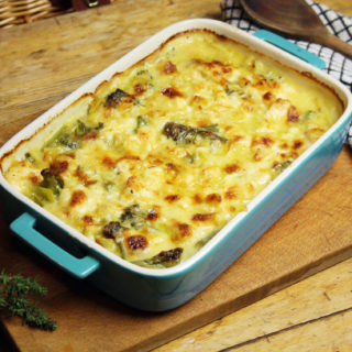fish and broccoli gratin